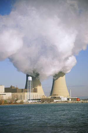nuclear power plant: Nuclear power plant reactors Stock Photo