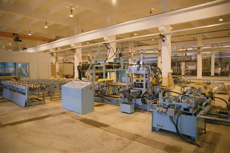 factory: Assembly line in appliance factory Editorial
