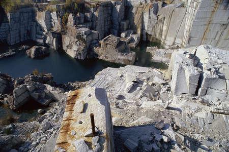 花崗岩の採石場