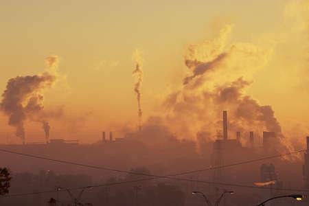 industrial: Industrial sunrise