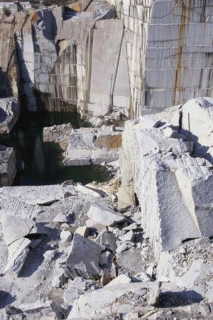 Slabs in granite quarry Фото со стока