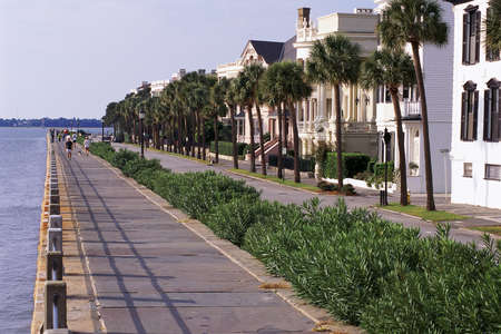 waterfront: Historic houses in Charleston, SC