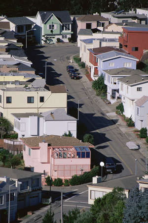 Residential area in San Francisco, CA photo