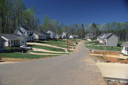 suburban: Suburban community, USA Stock Photo