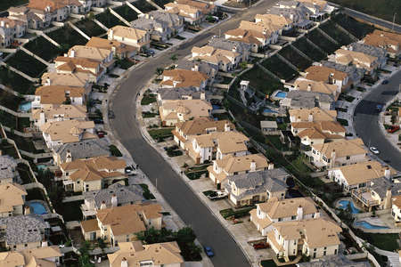 residential structures: Rows of houses, Orange County, CA