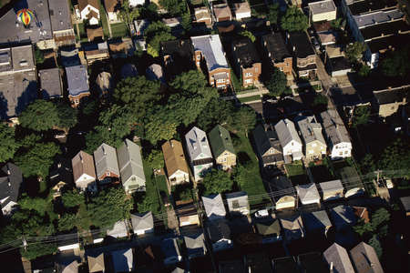 suburbs: Aerial view of Chicago suburbs Stock Photo