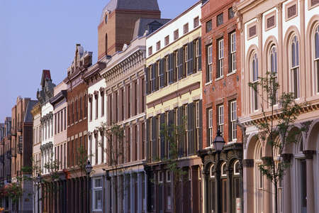 Historic district buildings, Charleston,SC Imagens - 20487267