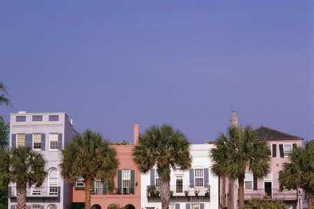 carolina: Colorful historic houses in Charleston, SC