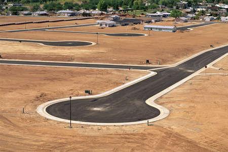 Desert land development in Utah Stock Photo