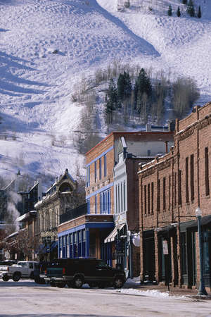 colorado: Storefronts, Aspen, Colorado Stock Photo