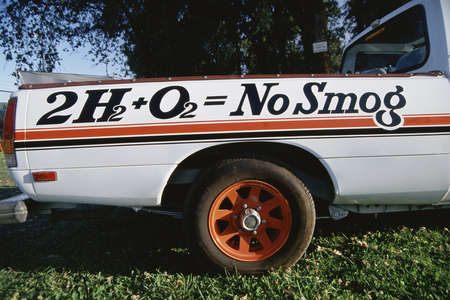 pollution free: No smog pickup truck