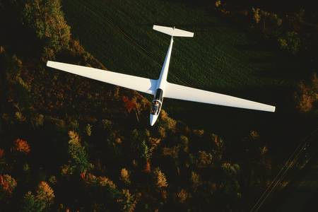 aerial photograph: Glider viewed from above