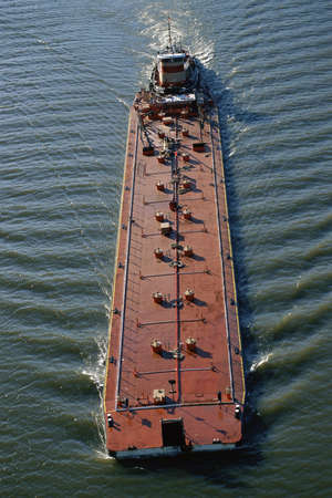 Overhead view of barge
