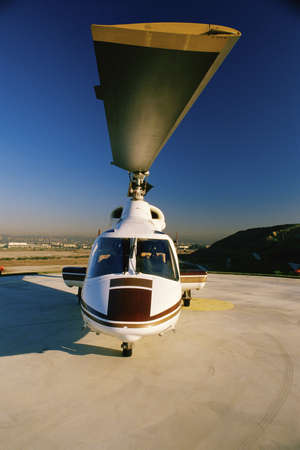helicopter pad: Helicopter on landing pad