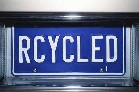 リサイクルとナンバー プレート 報道画像