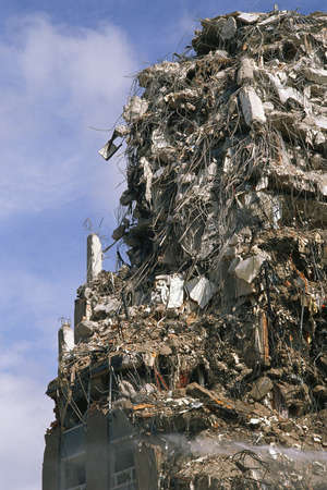 hazardous waste: Crumbling building Stock Photo