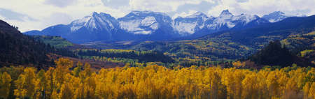 the mountain range: Sneffels Mountain range in autumn