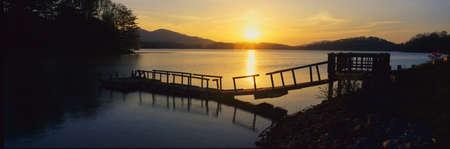 Dock on Lake Chatuge, Georgia Stock Photo - 20486586