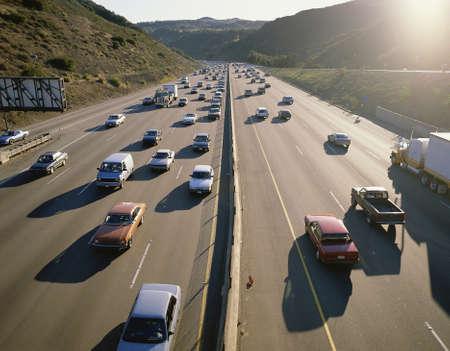 Traffic on highway Editorial
