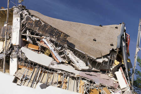 wrecked: Collapsed building