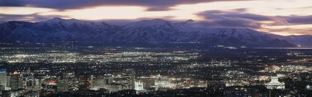 salt lake city: Salt Lake City, Utah horizonte de la noche