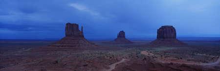 panoramics: Monument Valley, Arizona Stock Photo