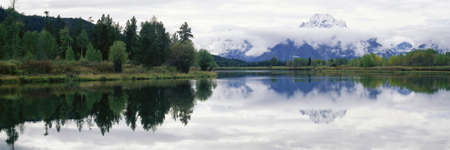 panoramics: Mount Rainier National Park, Washington Stock Photo