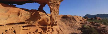 panoramics: Rock formation, Arizona Stock Photo