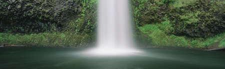 panoramics: Misty waterfall, Oregon