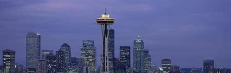 panoramics: Seattle, Washington skyline Editorial