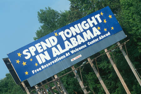 cultural artifacts: Welcome to Alabama Sign