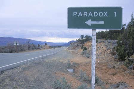 paradox: A road sign for Paradox