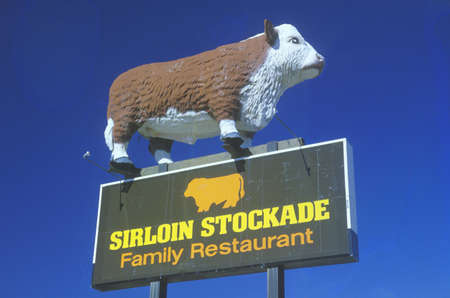 advertise with us: A sign that reads �Sirloin Stockade Family Restaurant�
