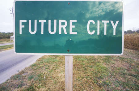future city: a Sign that reads �Future City�