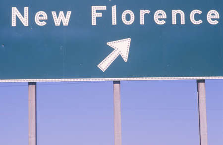 exits: A sign that reads �New Florence�