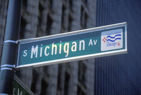 A sign that reads �S Michigan St�