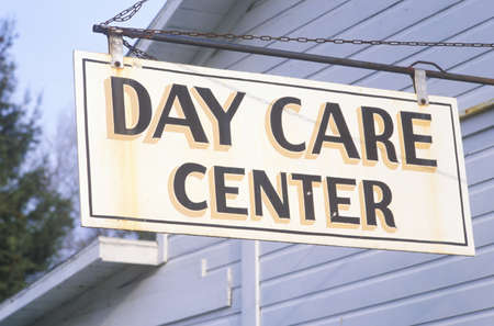 advertise with us: A sign that reads �Day Care Center� Editorial