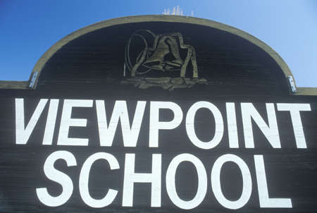 viewpoint: A sign that reads ÒViewpoint schoolÓ