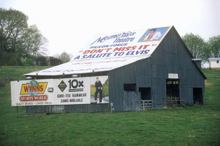 Advertisements plastering barn, Southern United States