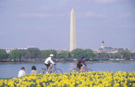 Bikers at Lady Bird Park, the Potomac River, Washington, D.C.