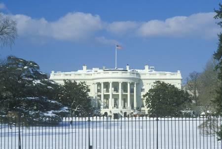white winter: The White House in Winter, Washington, D.C.