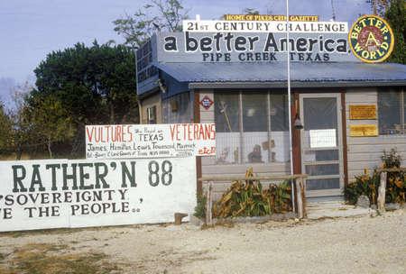 dissidents: Agitprop posters and billboards, San Antonio, TX Editorial