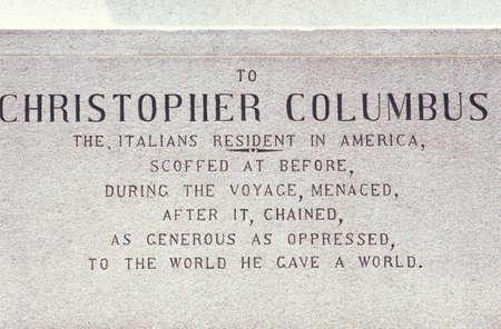 christopher columbus: Christopher Columbus Plaque, Columbus Circle, New York City, New York