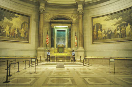 Interior of the National Archives, Washington, D.C.
