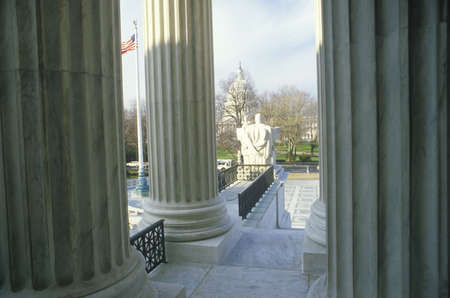 View from Between the Columns of the United States Supreme Court Building, Washington, D.C.