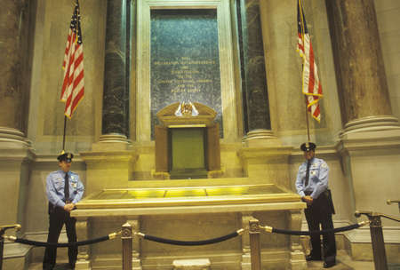 The Constitution and Bill of Rights Guarded by Policemen, National Archives, Washington, D.C.