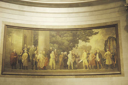 Painting in the National Archives, Washington, D.C.
