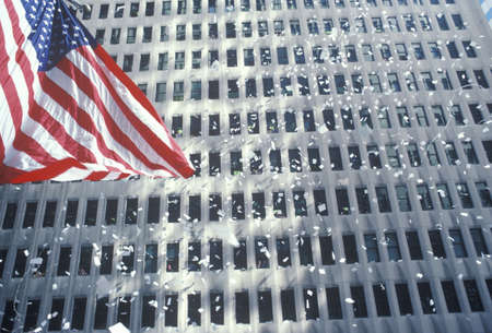 American Flag in Ticker Tape Parade, New York City, New York