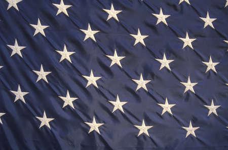 bandiera stati uniti: Close-up delle Stelle su una bandiera americana, Stati Uniti Editoriali