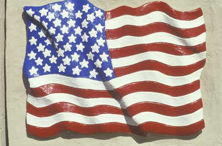 bandiera stati uniti: Scolpita American Flag, Stati Uniti Editoriali